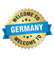 germany 3d gold badge with blue ribbon vector image vector image
