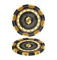 golden casino chips vector image