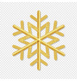 golden snowflake isolated transparent background vector image vector image