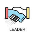 handshake icon for leader design vector image