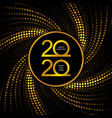 happy 2020 new year golden banner vector image vector image