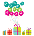 Happy New Year and Gift Boxes vector image vector image