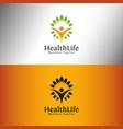 health life logo template vector image vector image