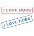 i love boss textile stamps vector image vector image