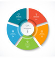 infographic circle cycle diagram with 5 stages vector image vector image