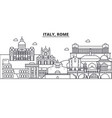 italy rome architecture line skyline vector image vector image