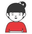 japanese woman avatar character vector image vector image