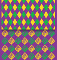 mardi gras carnival rhombic pattern fat or vector image