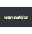 marketing word text logo design green blue white vector image vector image
