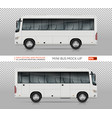 mini bus template vector image vector image