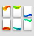 minimal curve liquid spark wave set background vector image vector image
