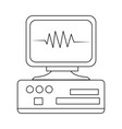 monitor heartbeat cardiology rhythm pictogram vector image vector image