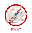 not tested animals design concept vector image vector image