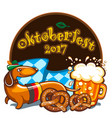oktoberfest celebration banner series vector image