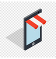 online shopping from phone isometric icon vector image vector image