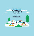 outdoor yoga flyer template for diverse people vector image vector image