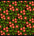pattern with a stylized flower vector image vector image