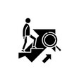 personal goal black icon sign on isolated vector image vector image