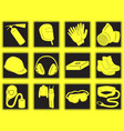 personal safety equipment icons vector image vector image
