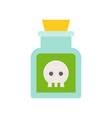 poison in jar black magic halloween related icon vector image vector image