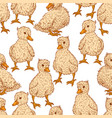seamless background of small ducklings vector image vector image