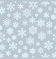 seamless different geometric snowflakes background vector image vector image