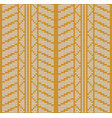 seamless orange tire track knitting vector image vector image