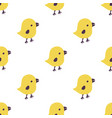 seamless pattern with cartoon yellow chicks vector image vector image