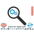 Search Gears Tool Flat Icon With 2017 Bonus Trend vector image vector image
