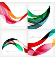 Set of geometric abstract backgrounds vector image
