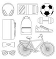 set of - mens way of life vector image