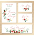 Set Of Wedding Invitations vector image vector image
