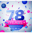 Seventy eight years anniversary celebration on vector image vector image