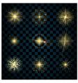 Shine gold stars glitters vector image