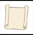 sketch of an ancient scroll vector image vector image
