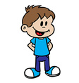 smiling boy 1 vector image vector image