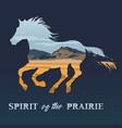 spirit of the prairie vector image vector image