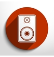 sub woofer web icon vector image vector image