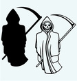 Terrible death with a scythe vector image