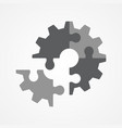 the final piece of puzzle vector image vector image