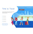 time for travel landing vector image