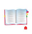 top view of spiral notebook vector image vector image