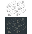 trucks and trailers set vector image vector image