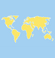 world map template vector image vector image