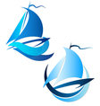 Yacht symbol vector image vector image