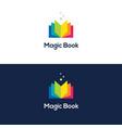colorful open book logo vector image