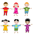 young children vector image