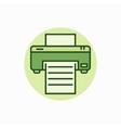 Printer green icon vector image