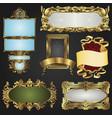 vintage retro gold frames and labels vector image