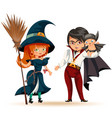 all hallows eve family party vector image vector image